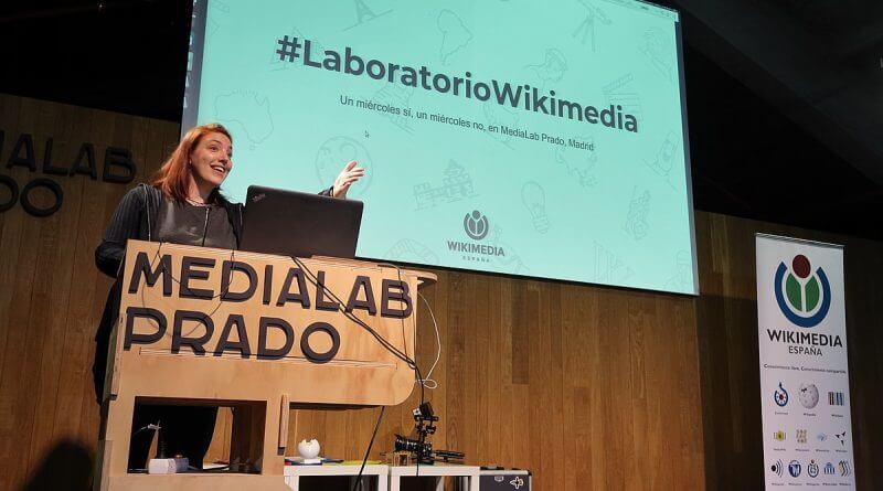 Florencia Claes Medialab Prado entrega premios Wiki Loves
